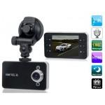 กล้องติดรถยนต์ HD DVR รุ่น K-6000 พร้อมฟังก์ชั่นตรวจจับการเคลื่อนไหว G-sensor สินค้าใหม่มือ1