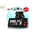 กล้องติดรถยนต์ HD Dual CameraจอTuch screen พร้อมGPS